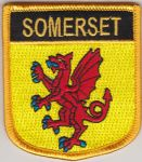 Somerset Embroidered Flag Patch, style 07